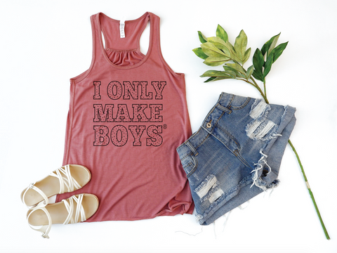 PREORDER I Only Make Boys® [WOMEN'S FIT - Racerback Tank Top]