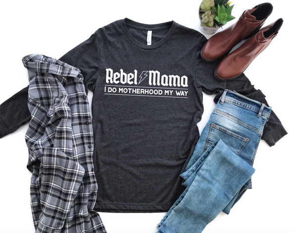 PREORDER Rebel Mama IDMMW [Dark Grey Heather Long Sleeve]