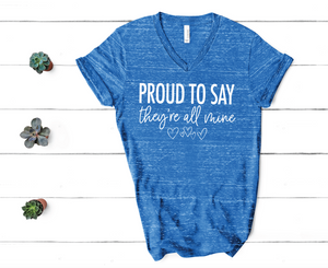 PREORDER Proud - All Mine [Royal Blue Marble V Neck]