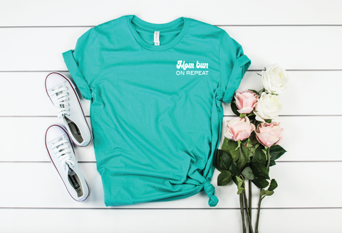 PREORDER Mom Bun On Repeat [Teal]