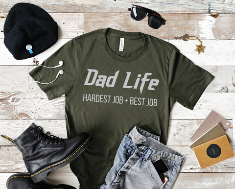 PREORDER Dad Life - Best Job [Military Green]