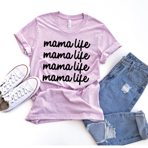 PREORDER mama life [repeat] HEATHER PRISM LILAC