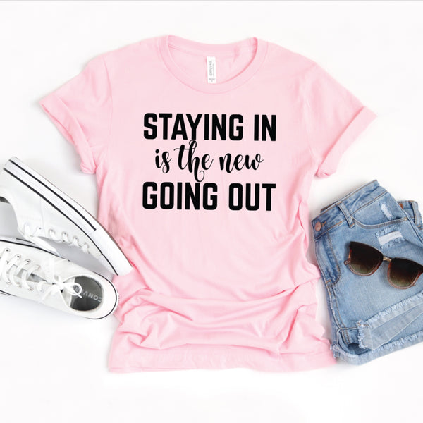 PREORDER Staying In [Pink Crewneck]