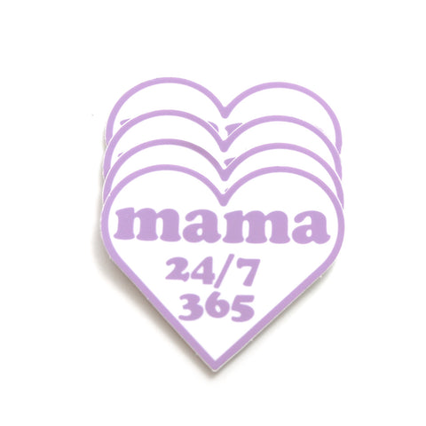 Mama 24/7 Heart Sticker