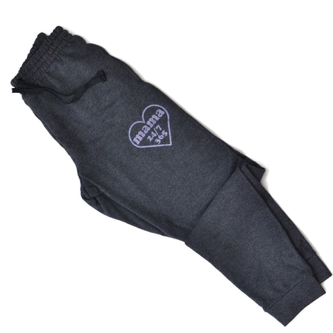 PREORDER Mama 24/7 Heart [Heather Charcoal Joggers]