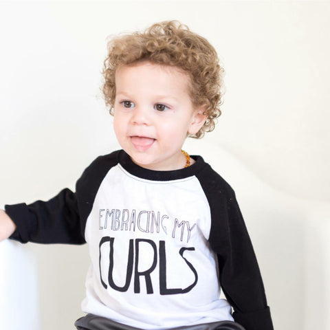 Embracing My Curls [Toddler 3/4 Length Raglan]