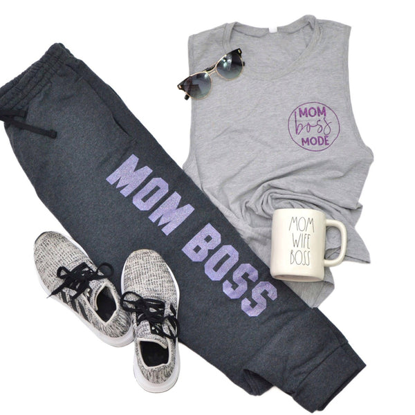 PREORDER Mom Boss [Charcoal Joggers]