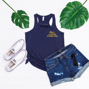 PREORDER Bright Side [WOMEN'S FIT - Midnight Navy Racerback Tank Top]