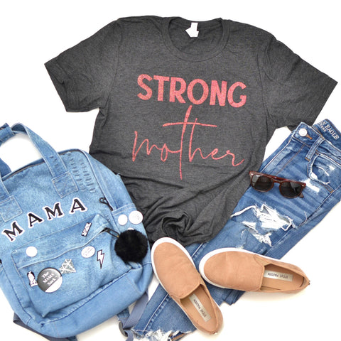 Strong Mother [Charcoal Crew with Paradise Glitter]