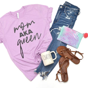 PREORDER Mom AKA Queen [Lilac + Steel Glitter]