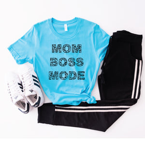 PREORDER {Spotted} Mom Boss Mode NEW [Turquoise Crewneck]