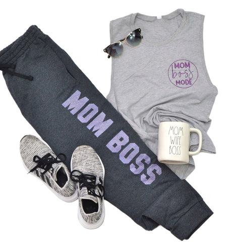 Mom Boss Mode [Women's Muscle Tank]