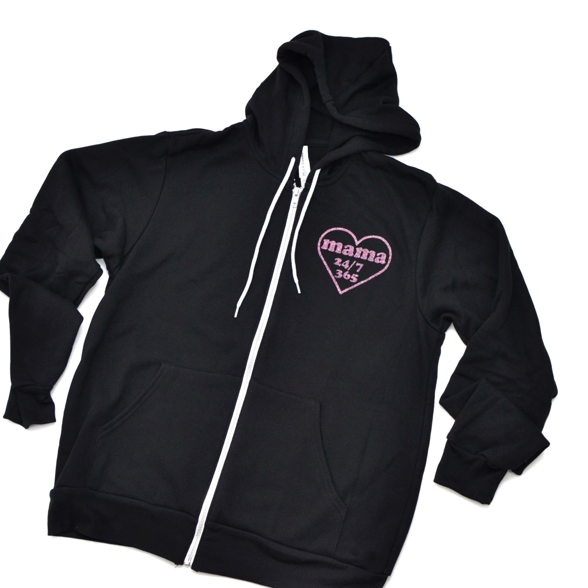 PREORDER Mama 24/7 Zip Up [Black]