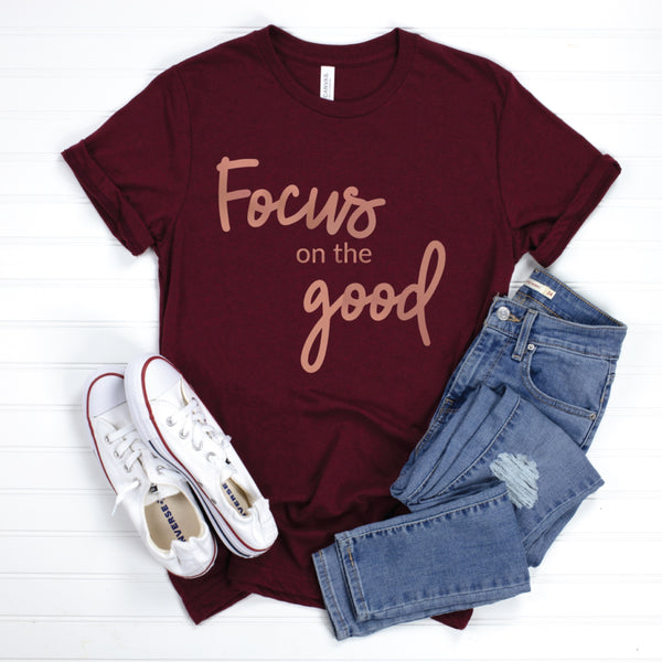 PREORDER Focus On The Good [Heather Cardinal + Rose Gold Ink]