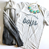 THE ORIGINAL I Only Make Boys® Mens/Womens [Silver Short Sleeve]