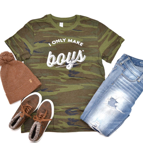 PREORDER I Only Make Boys® [Camo Crewneck]