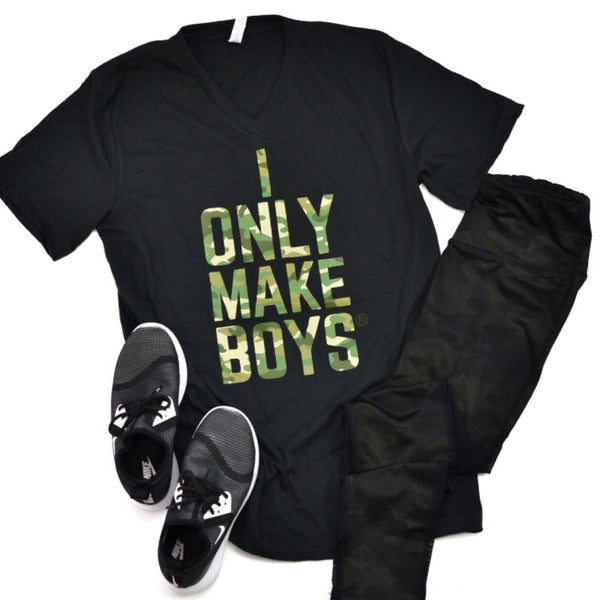 THE ORIGINAL I Only Make Boys® [Camo 4 Color V Neck]