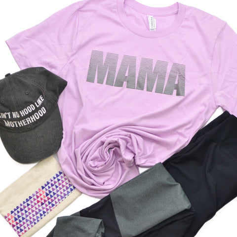 Mama Stripe [Lilac + Metallic Steel]