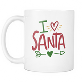 I Love Santa Coffee Mug