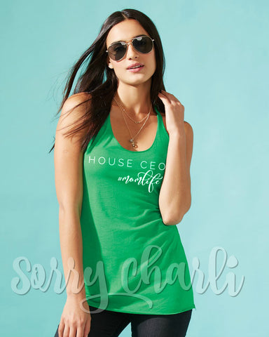 House CEO Tank Top - Sorry Charli