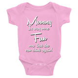Mom Is Way More Fun Onesie - Sorry Charli