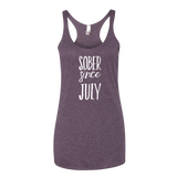 Sober Since July Tank Top - Sorry Charli