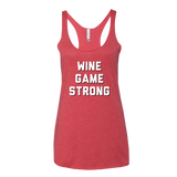 Wine Game Strong Tank Top
