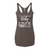 If You Let Me Punch You In The Face Maternity Tank Top