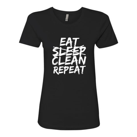 Eat Sleep Clean Repeat MOM T-shirt - Sorry Charli