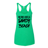 No One Likes A Shady Beach Tank Top - Sorry Charli