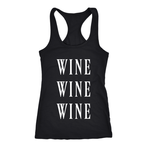 Wine Wine Wine Matching Tank Top