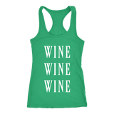 Wine Wine Wine Matching Tank Top - Sorry Charli