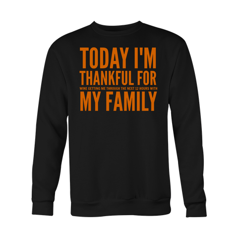 Thankful For My Family Long Sleeve Shirt - Sorry Charli