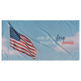 Home Of The Free Because Of The Brave Beach Towel