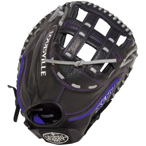 Louisville Slugger XENO Black Catchers Mitt Lht/33in