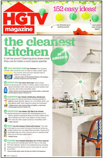 HGTV Magazine Featured the Steamboy Pro in the June Issue!