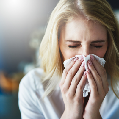 USE STEAM TO LIMIT SPRING SNEEZING