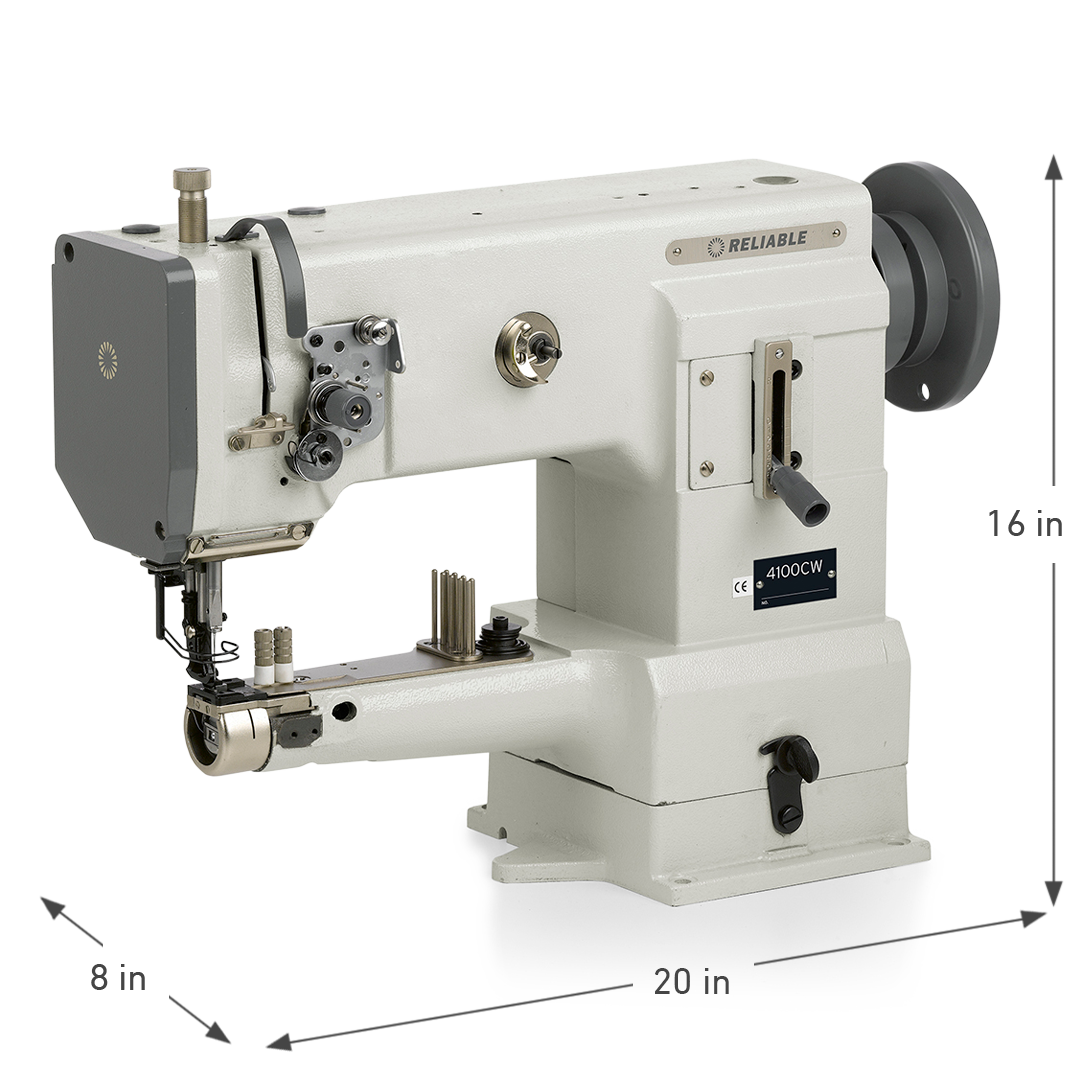 4100CW SMALL CYLINDER WALKING FOOT SEWING MACHINE DIMENSIONS