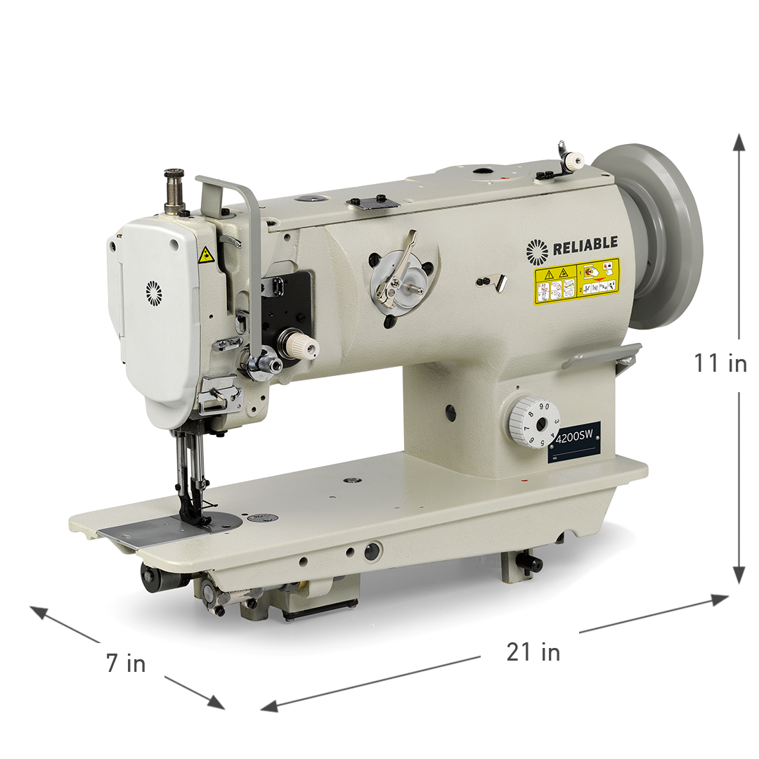 4200SW SINGLE NEEDLE WALKING FOOT SEWING MACHINE DIMENSIONS