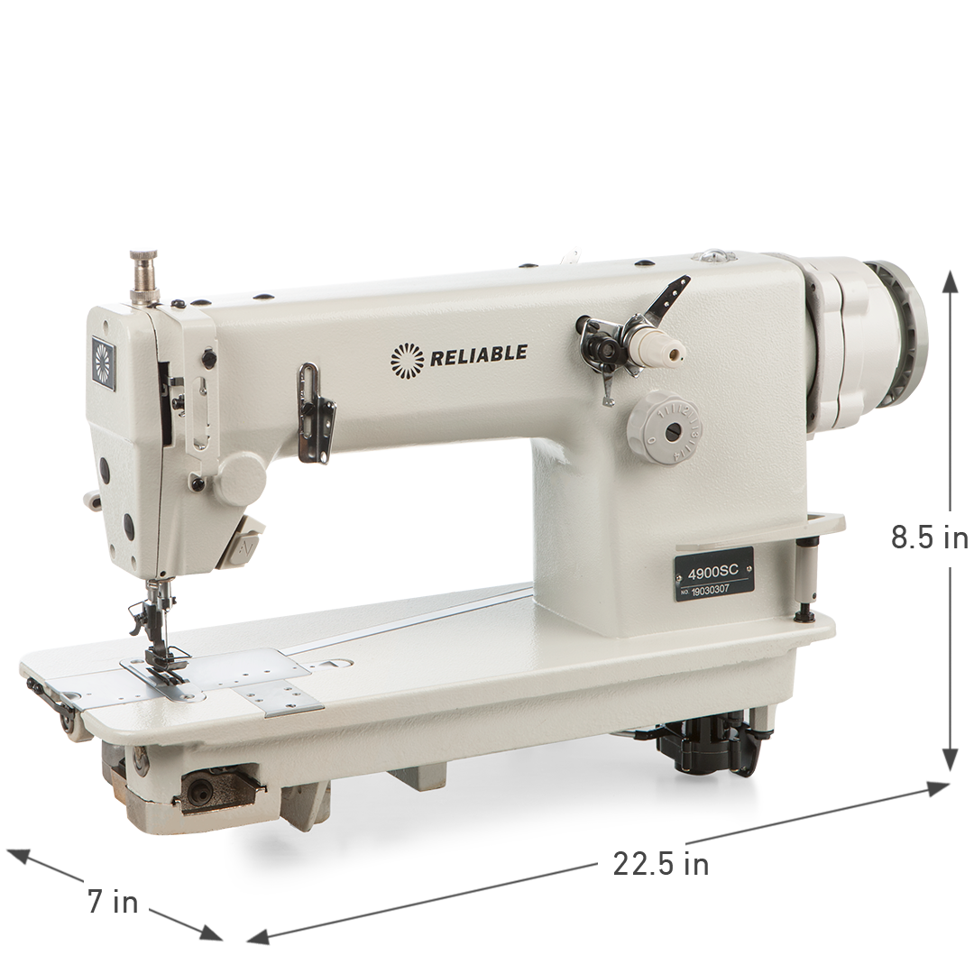 4900SC DIRECT DRIVE CHAINSTITCH SEWING MACHINE DIMENSIONS