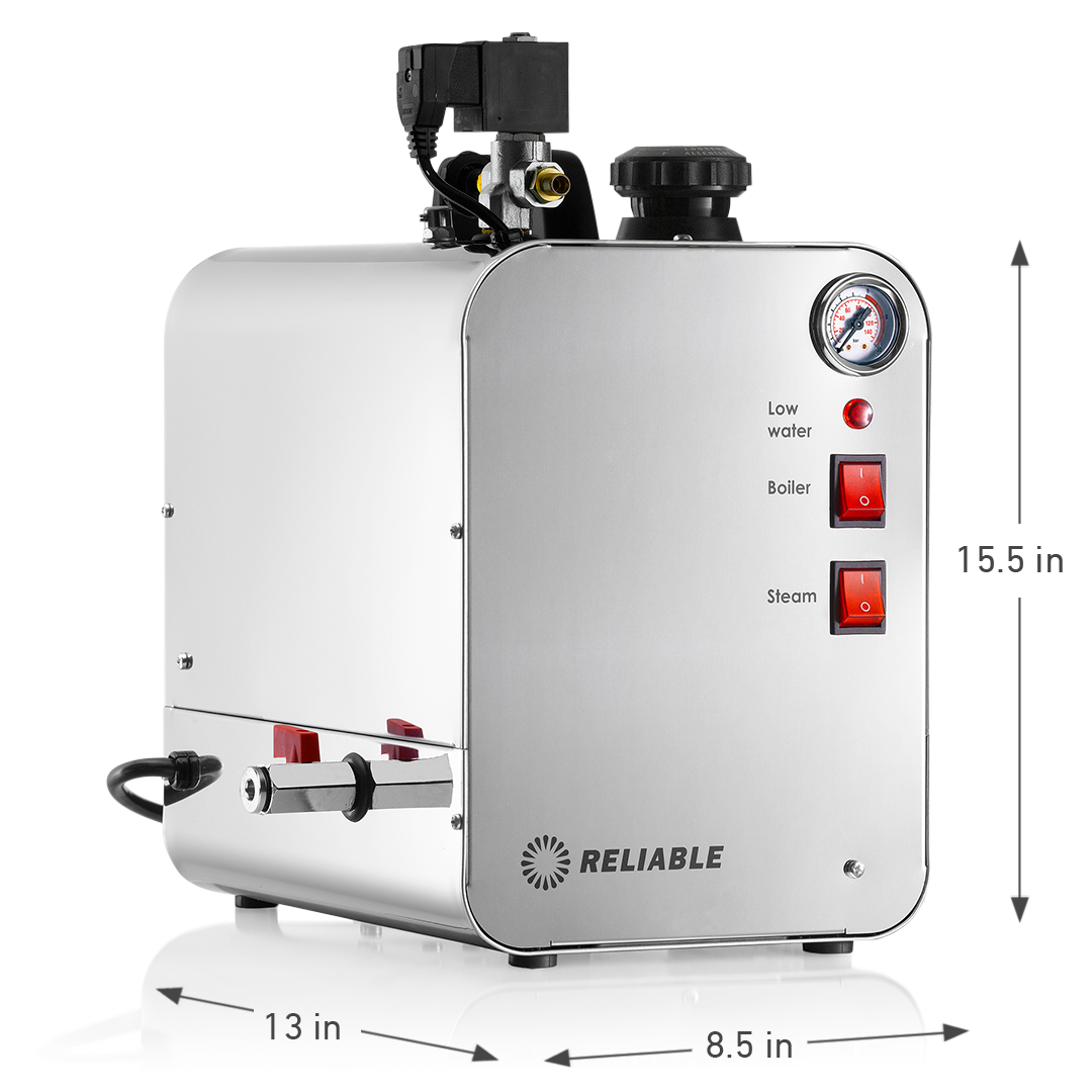 6000BU-3800IA PROFESSIONAL STEAM BOILER WITH BRUSH DIMENSIONS