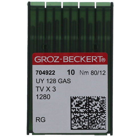 UY 128 GAS GROZ-BECKERT® GAS SEWING MACHINE NEEDLE, 10 PACK