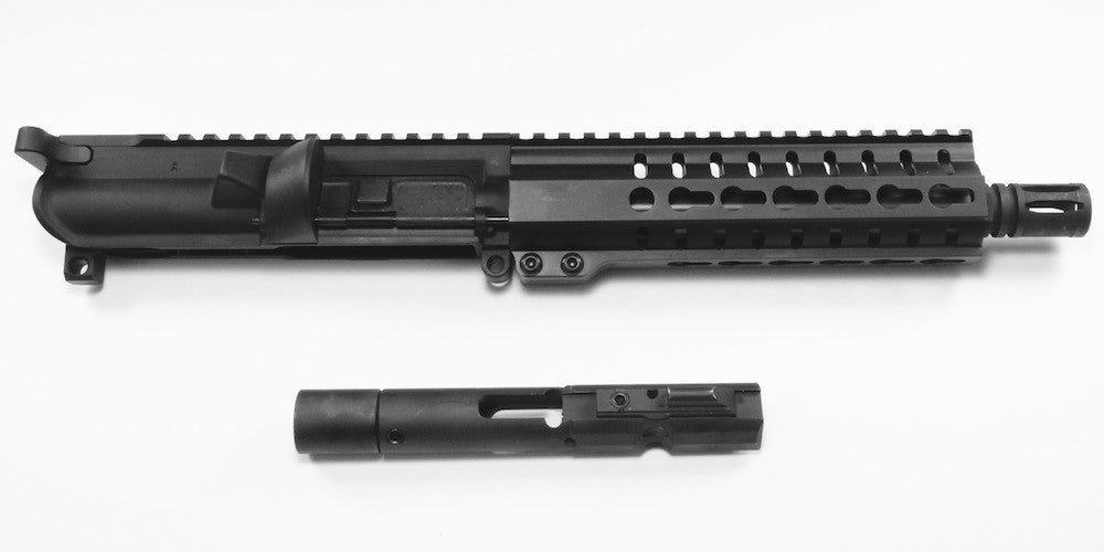 Our Macon Armory AR45 blowback upper receiver group is based on the Colt pattern black nitride coated hand-crafted