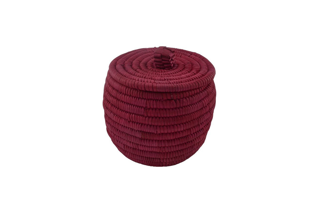 Lidded Basket, Crimson