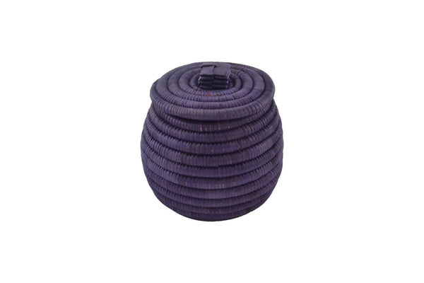 Lidded Basket, Purple
