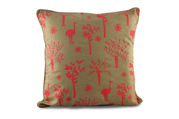 Namibian Cushion, Ostriches and Trees