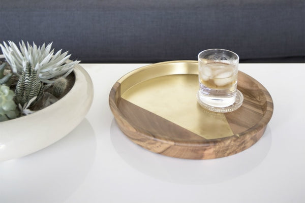 Gold Arrow Teak Tray