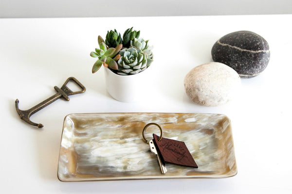 Cow Horn Heirloom Tray