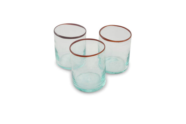 Red Rimmed Short Tumblers