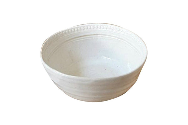 Khoikhoi Pudding Bowl - Old White